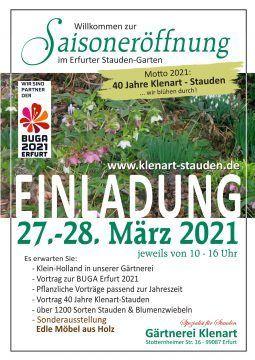 Saisoneröffnung 2021 Klenart-Stauden Erfurt
