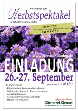 Herbstspektakel 2020 Gärtnerei Klenart-Stauden Erfurt