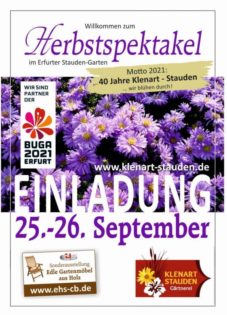 KLENART STAUDEN Gärtnerei Erfurt: Herbstspektakel 2021