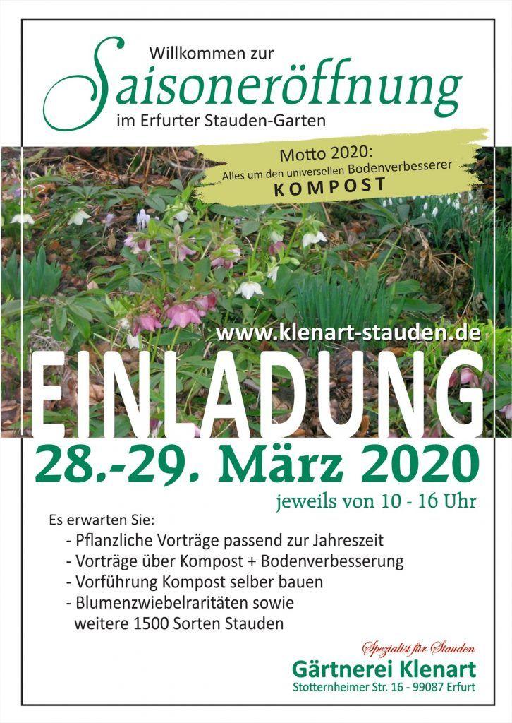 Saisoneröffnung 2020 Gärtnerei Klenart-Stauden Erfurt