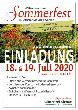 Sommerfest 2020 Gärtnerei Klenart-Stauden Erfurt