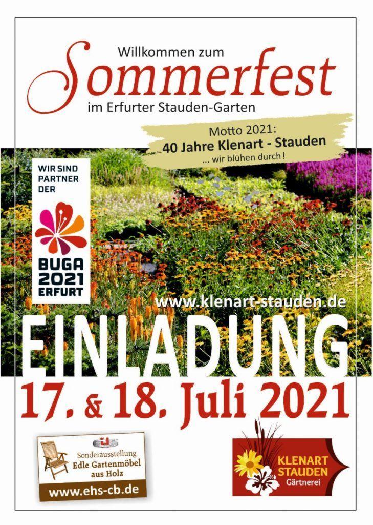 KLENART STAUDEN Gärtnerei Erfurt: Sommerfest 2021