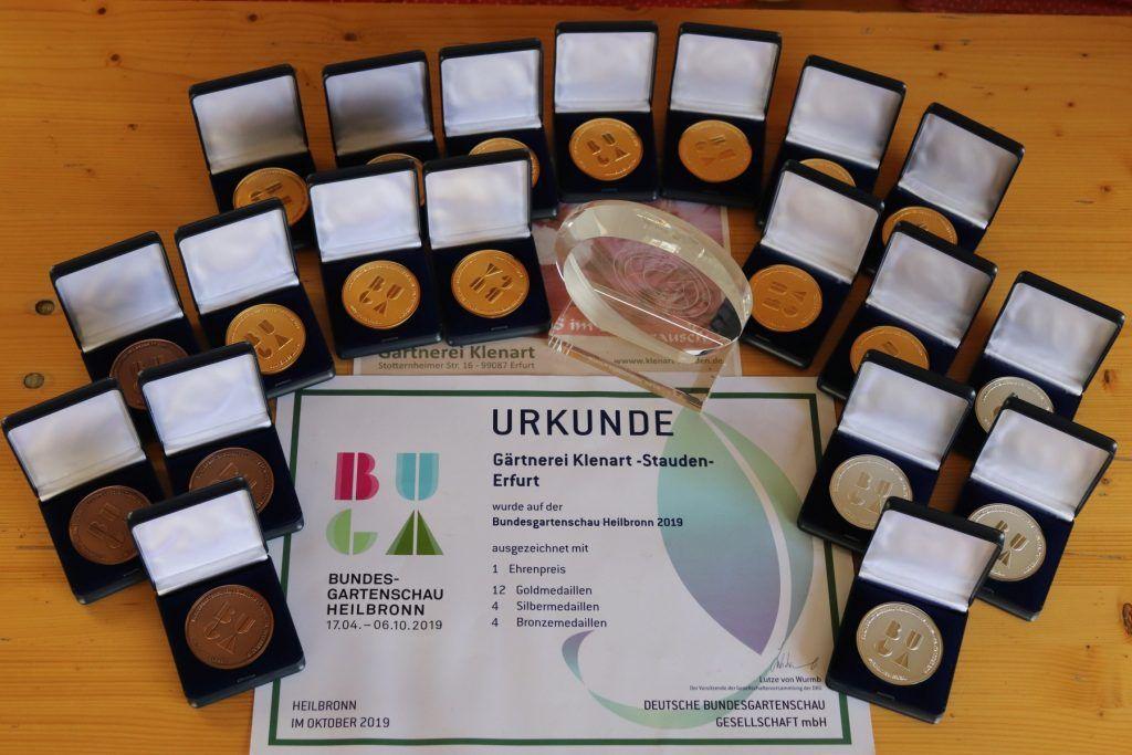 Unsere Medaillen von der Bundesgartenschau 2019 in Heilbronn