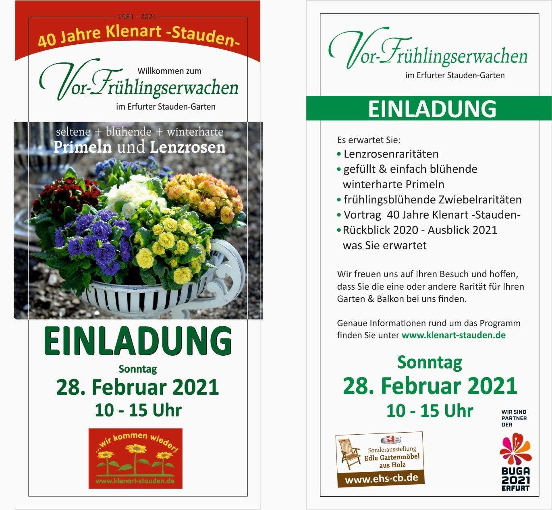Einladung zum Vor-Frühlingserwachen 2021