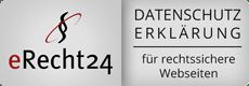 Siegel eRecht24 Datenschutzerklärung